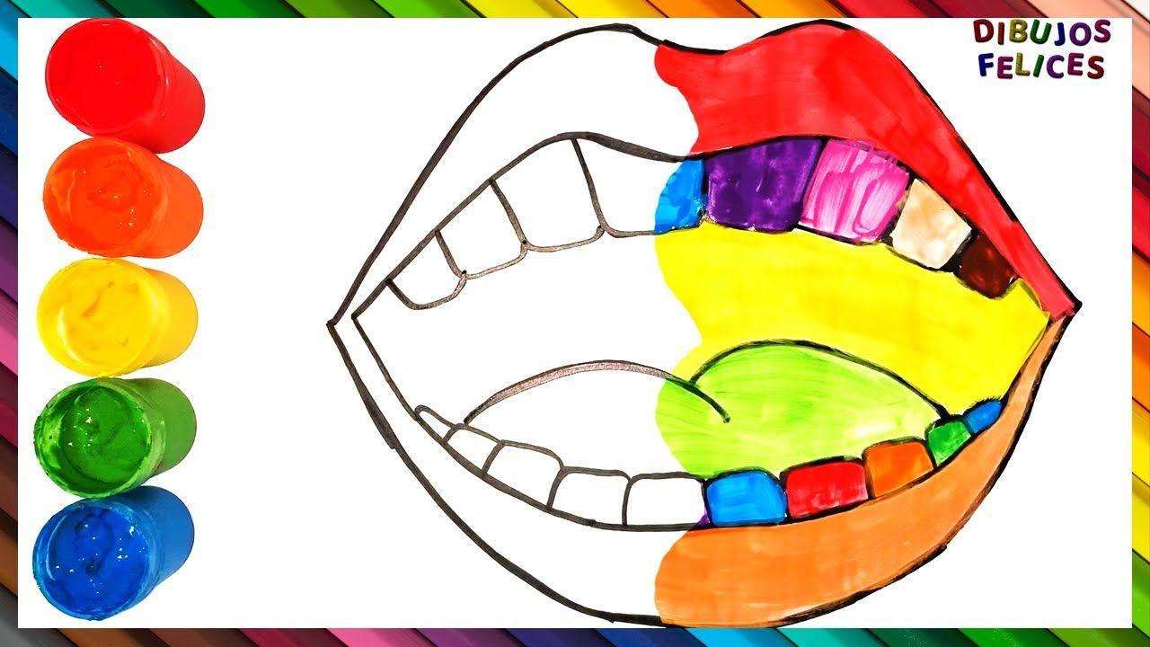 Cómo Dibujar Y Colorear Boca De Arco Iris Dibujos Para Niños Dibujo De Arco Iris Dibujo De Arco Tutorial De Dibujo