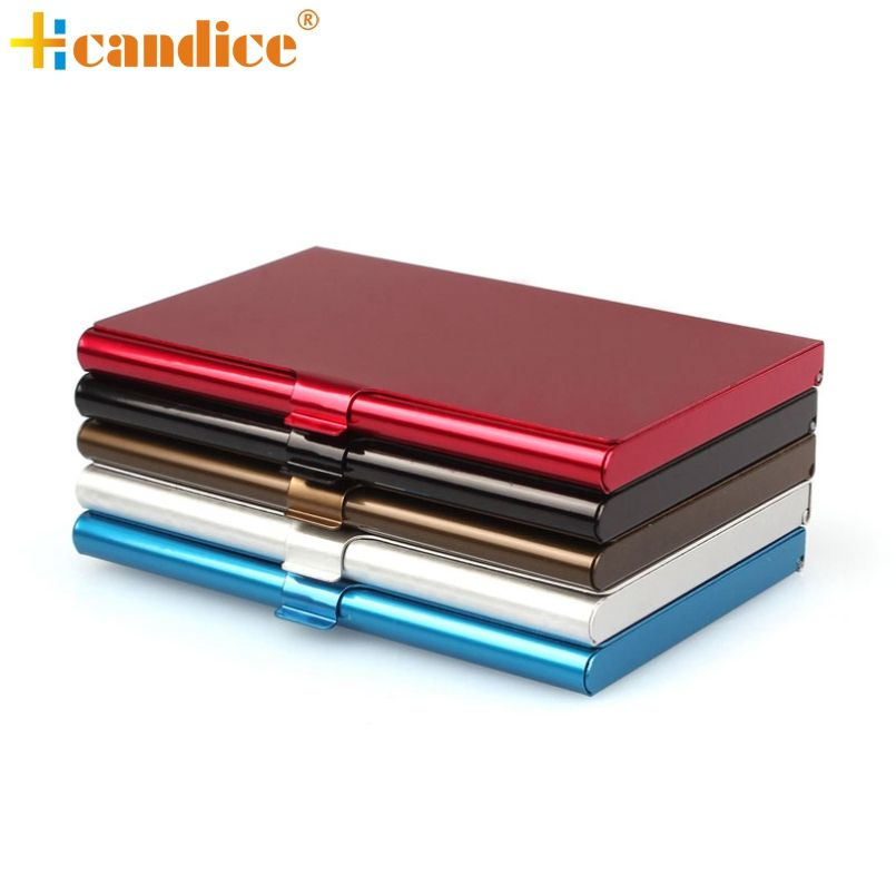 Consumer Reviewcellent Quality Business Id Credit Card Holder Wallet Pocket Case Creative Aluminum