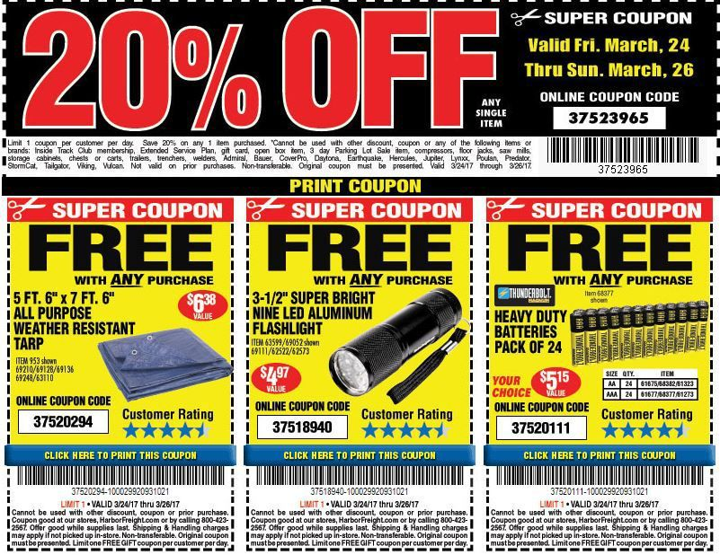 Harbor Freight Coupons Good This Weekend Harbor freight