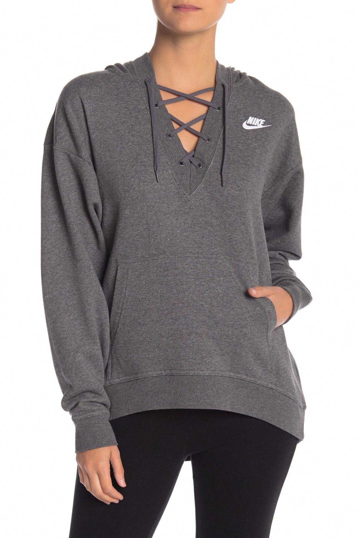 8d11d61d939f Club Lace-Up Hoodie by Nike on  nordstrom rack  WorkoutClothingWomen s