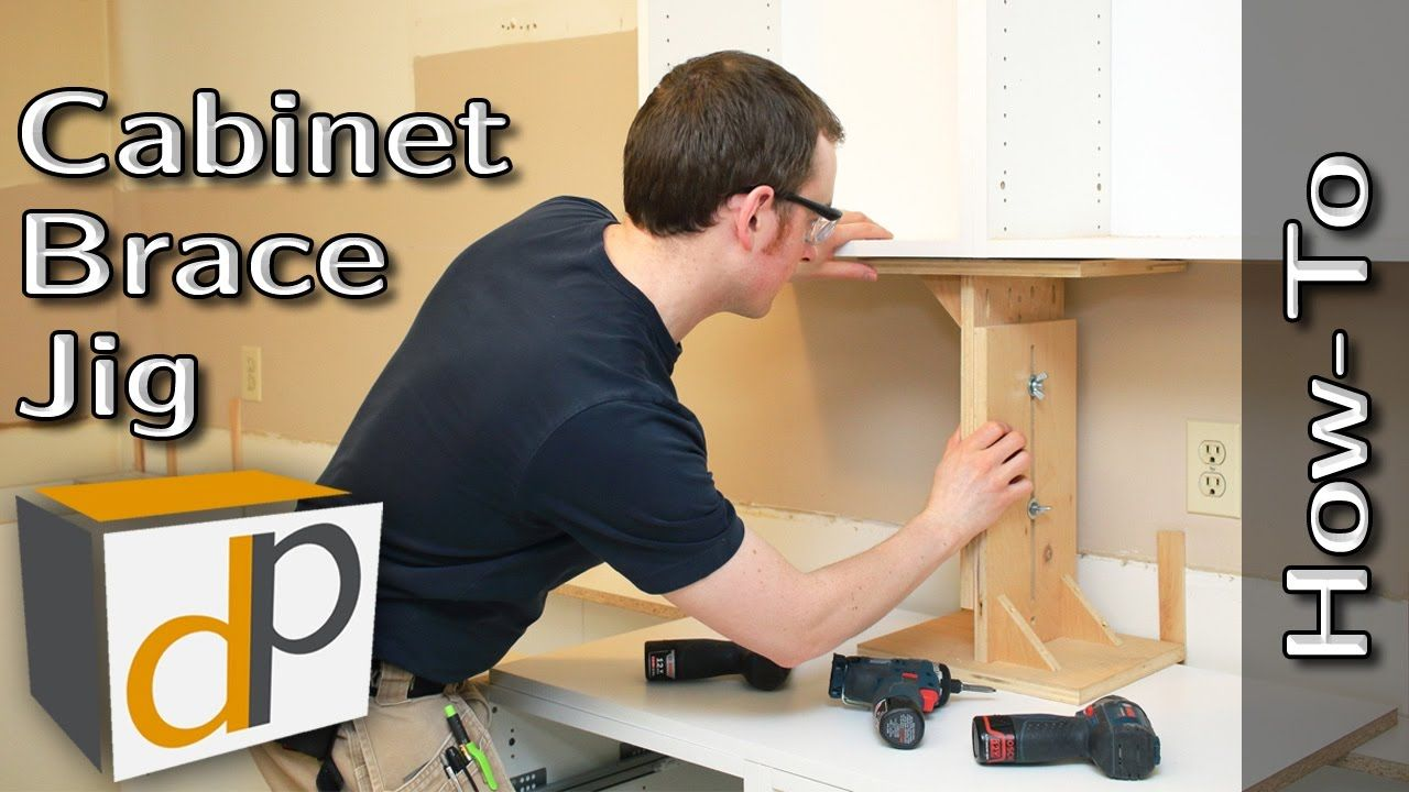 Hang Upper Cabinets By Yourself Cabinet Brace How To Cabinet Installing Cabinets Upper Cabinets