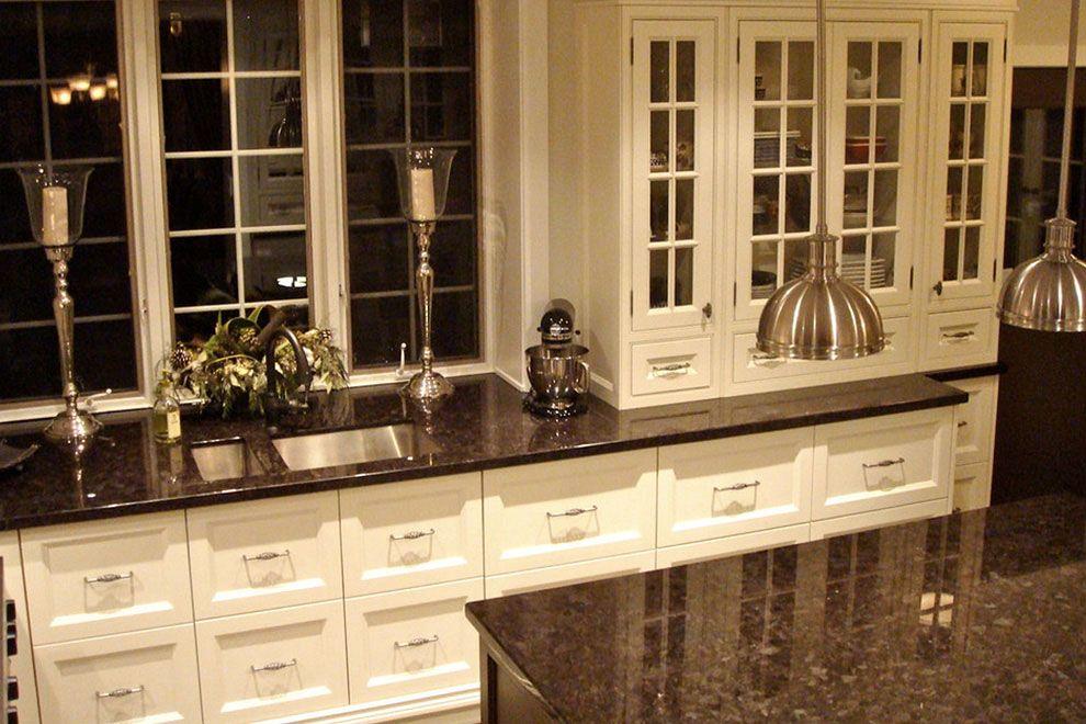 Tan Brown Granite Kitchen Countertops With Modern White Cabinets White Granite Countertops Black Granite Countertops Brown Granite