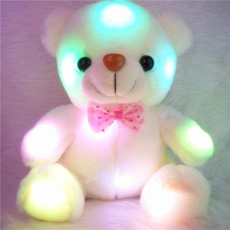 Toys for Girls LED Stuffed Cute Bear Toy Kids Night Light Lamp Girl Xmas Gift