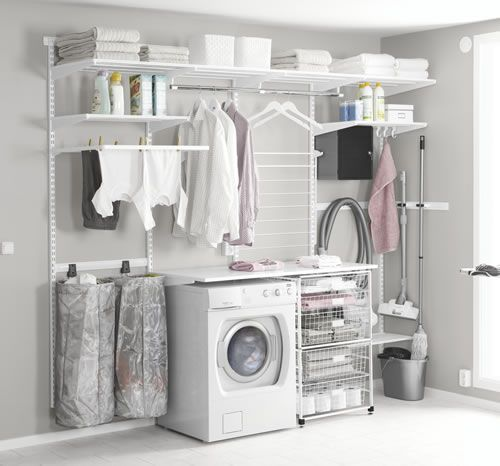 Best Laundry Room Location: Elfa Utility Room - Best Selling Solution 2