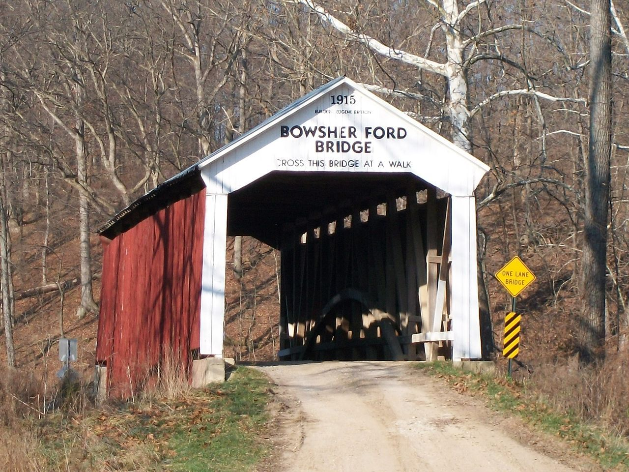 Bowsher ford bridge in parke county indiana covered