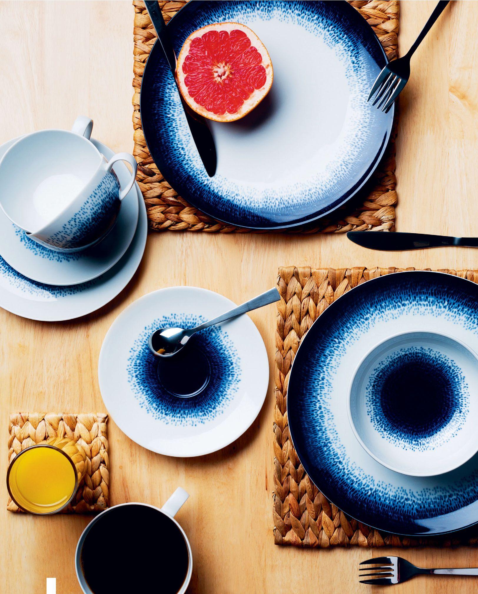 Blue Dye Crockery Tesco With Images Crockery