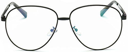 1c34fd1bb41 SojoS Aviator Clear Lens Metal Frame Men Women Glasses Eyeglasses Eyewear  SJ5004