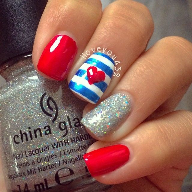 ❤️forth of July nails❤ inspired by the lovely and famous nail ...