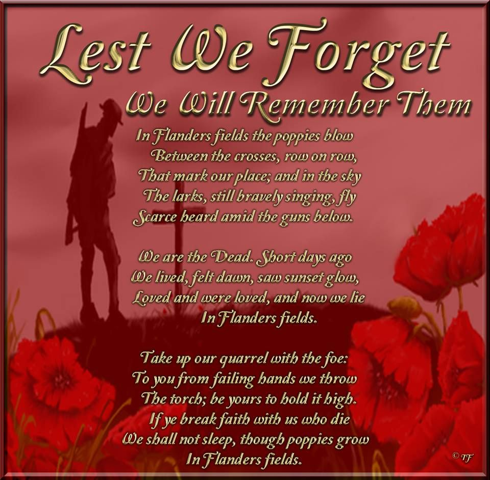 in flanders fields lest we forget we will remember them 2016