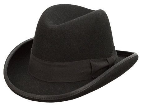 4042600c789 Kenny K - Black Wool Felt Homburg Hat Relaxed Outfit