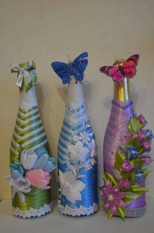 Botellas 8 botellas Pinterest Decorar botellas, Flor y Plantas