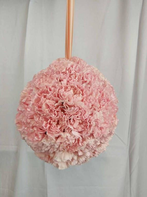 Fresh Carnation Pomander Ball Pomander Kissing Ball Hanging Alternative Wedding Bouquet Pomander Balls Paper Flowers