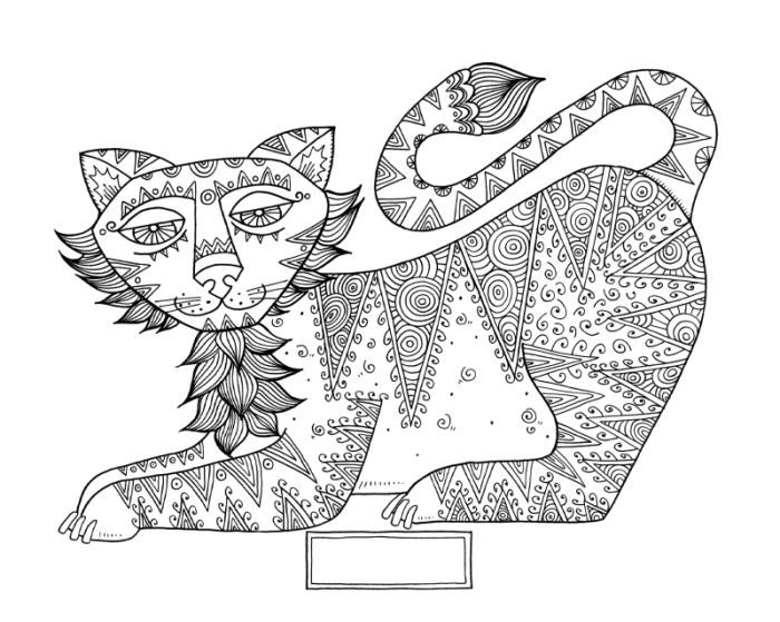 Tiger 2 Cindy Wilde 150 Dpi Jpg Line Work Representing Leading Artists Who Produce Children S And Decorative W Animal Coloring Pages Coloring Pages Retro Art