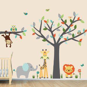 Baby Nursery Kid Room Wall Decals Monkey Owl Tree Etc