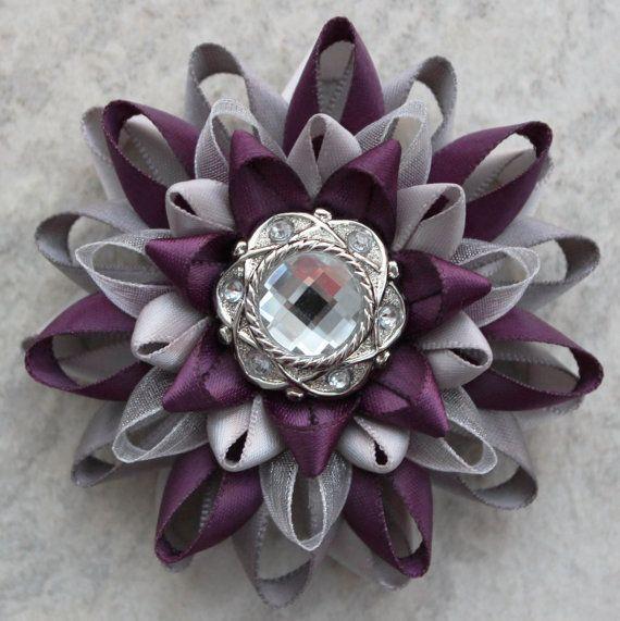 Purple Corsage, Purple and Silver Corsage Flower, Aubergine Corsage Pin, Aubergine Wedding Flowers Täältä nämä