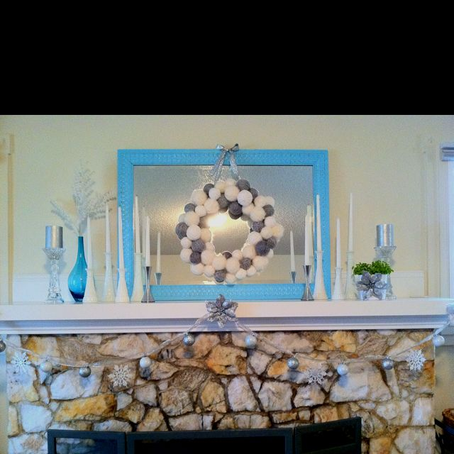 My Christmas mantle!