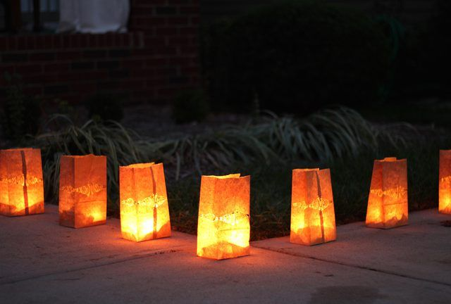 Safe paper bag luminaries are an easy way to add ambience to a gathering  and are perfect for holidays and special occasions. - How To Create Safe Paper Bag Luminaries Luminaries Pinterest