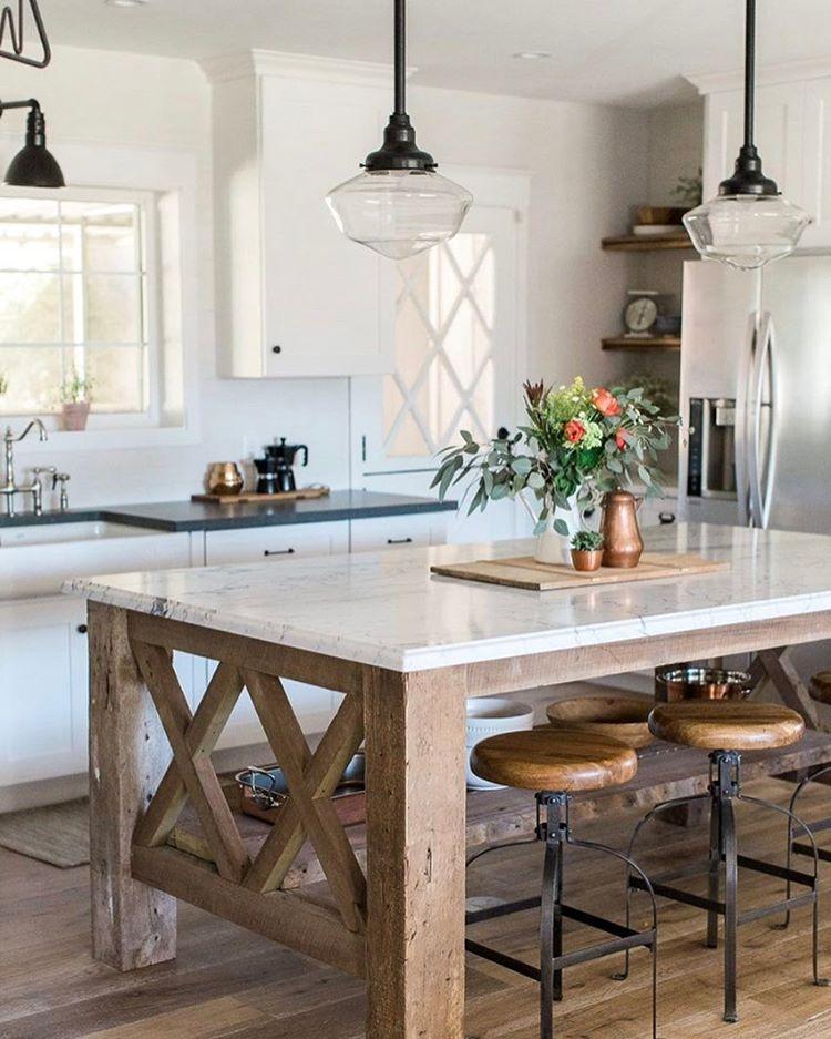 Farmhouse Kitchen Island: Pin By Jane Neal On Kitchen DIY In 2019