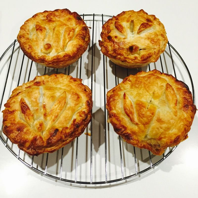 Filled with bite sized, tender pieces of steak, these pies ...