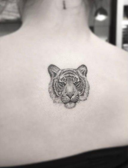 Pin By S On Minimalist Tattoo In 2020 Tiger Tattoo Back Tattoo Animal Tattoo