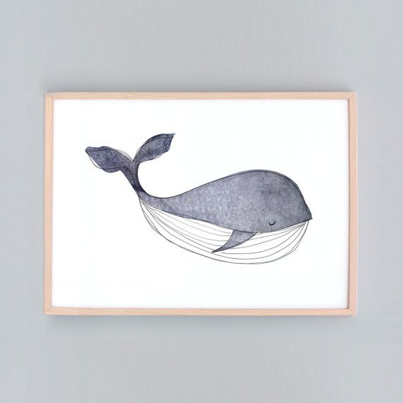 Large Art Print, Whale Nursery, Baby Wall Art, Nursery Art ...