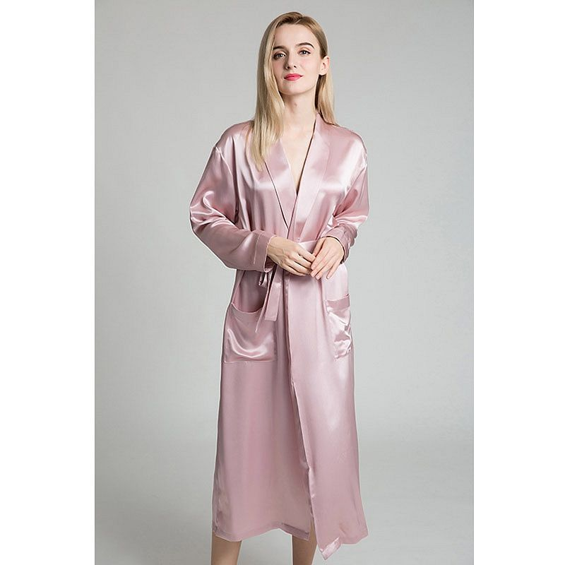 22 Momme Classic Full Length Silk Robe  b0862c90a