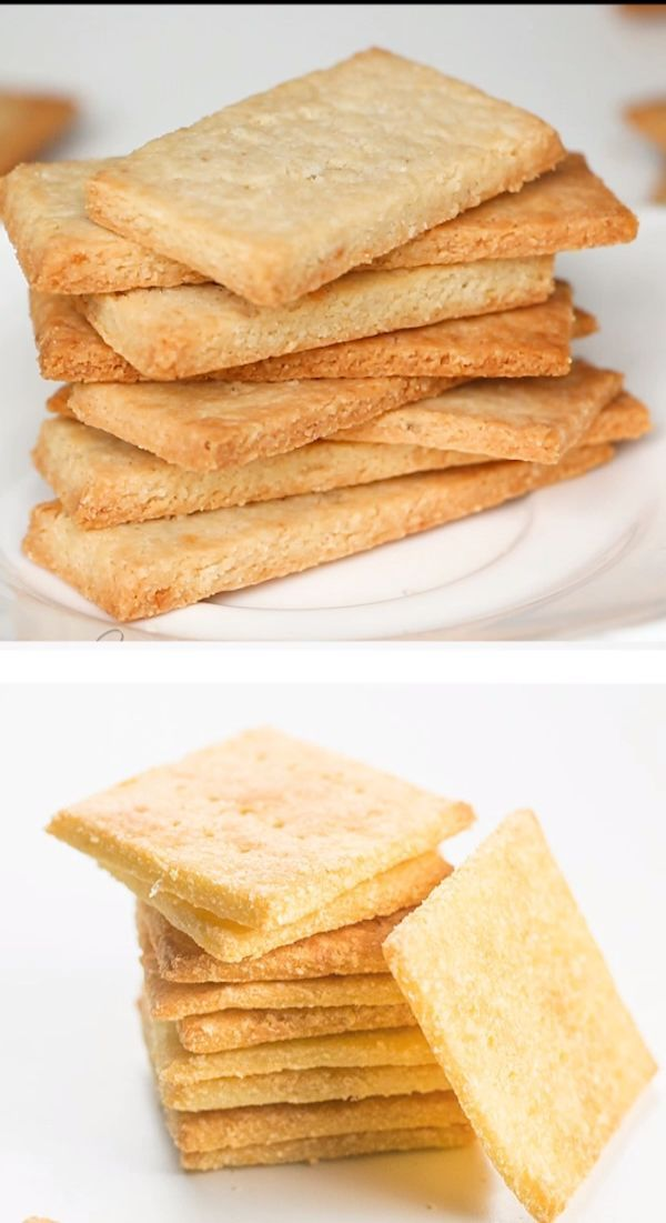 2-Ingredient Keto Low Carb Crackers Recipe (Almond