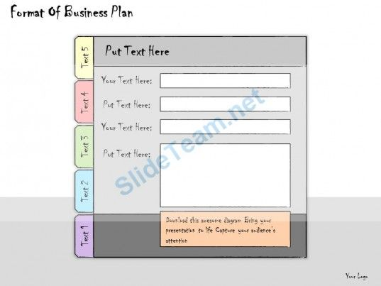 1113 Business Ppt Diagram Format Of Business Plan Powerpoint - flow chart format