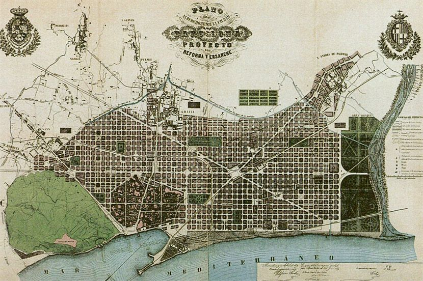 Eixample Master Plan Ildefons Cerda Tradigital Media - Barcelona map eixample district