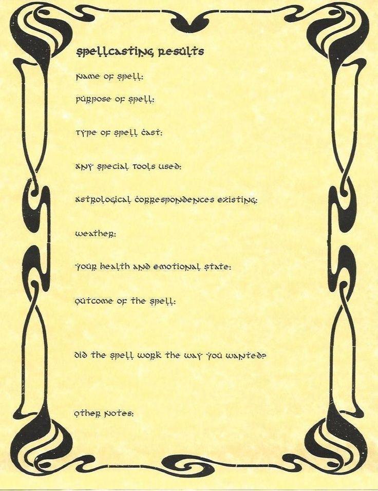 Basic Outline of Casting a Spell
