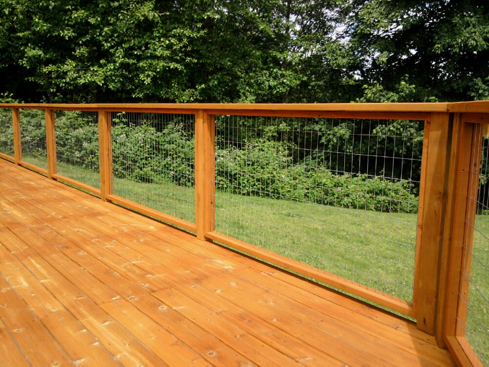 Loving Our New Welded Wire Deck Railing Great For The