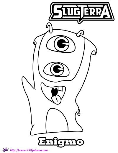Mo the Enigmo Slug Coloring Page