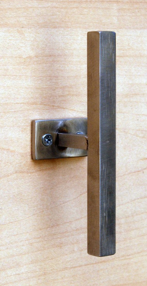 cupboard drawer handles Hand forged barn door hardware handles knobs and pulls hand painted cabinet handle sliding barn shed door handle