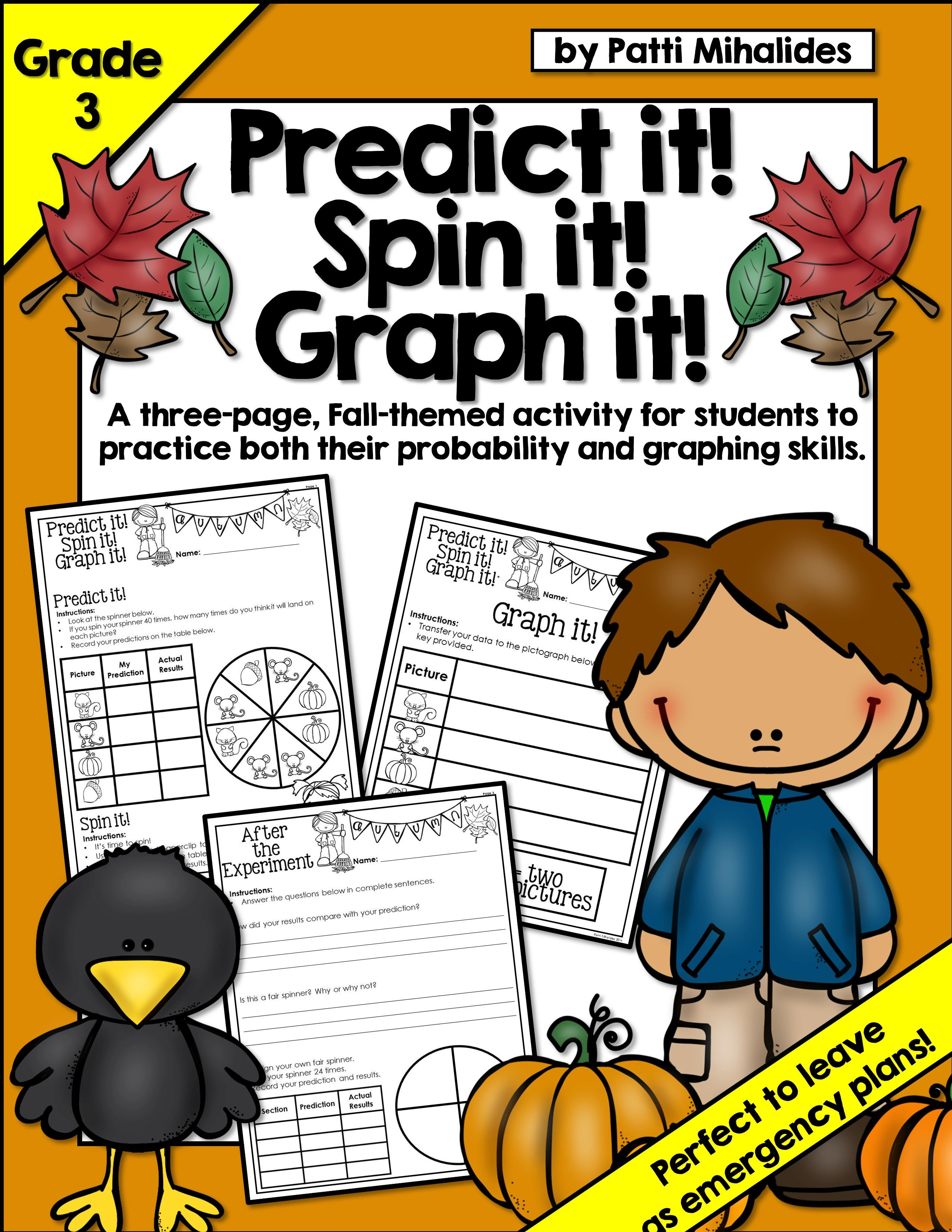 Fall Predict It Spin It Graph It Graphing