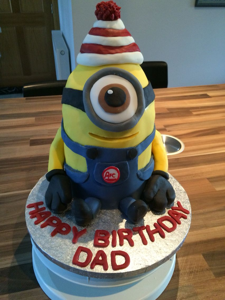 minion cake with little aberdeen football club details my cake on birthday cakes to order in aberdeen