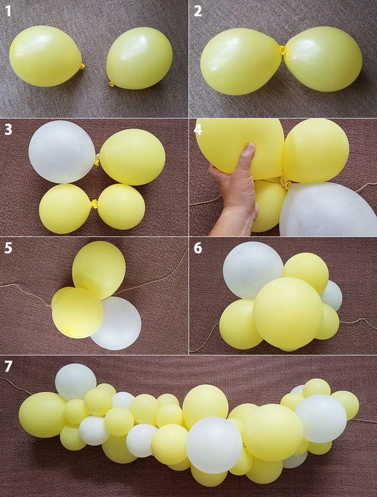 Wie man eine Ballongirlande macht - ein beliebter Ballon mit Luftballons ... - Unsere schönsten Strickideen - Strickideen
