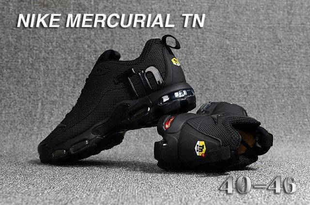 Nike Mercurial TN KPU Triple Black Mens Running Shoes | Running ...