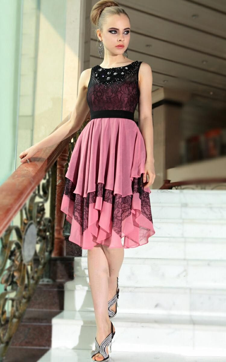 Lace/Daped Multi-Color 8th Grade Prom Dresses Scoop Vestido De ...