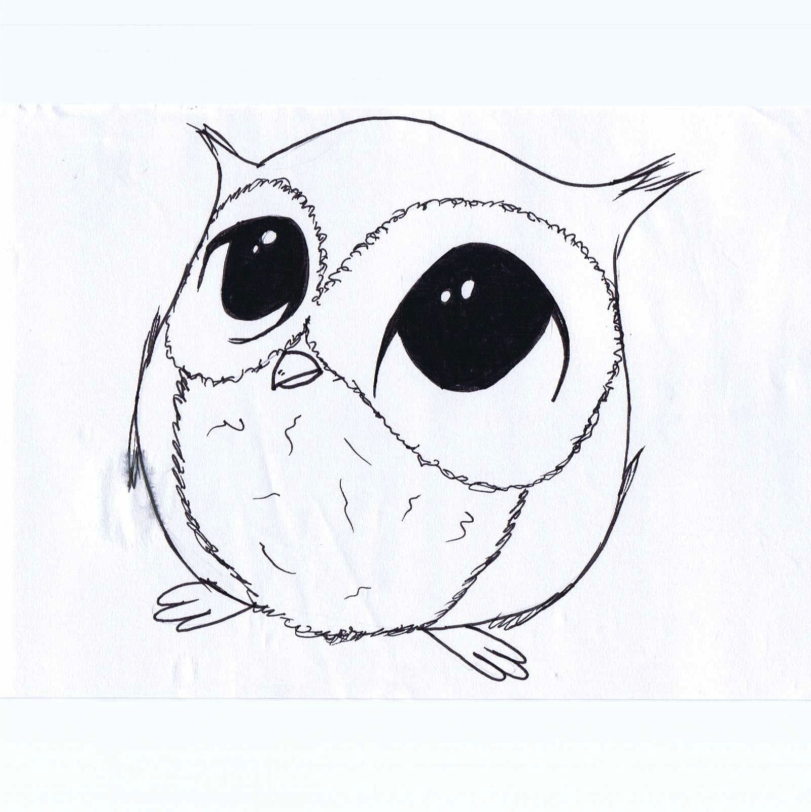 Easy pencil drawings of cute animal for kids drawing of