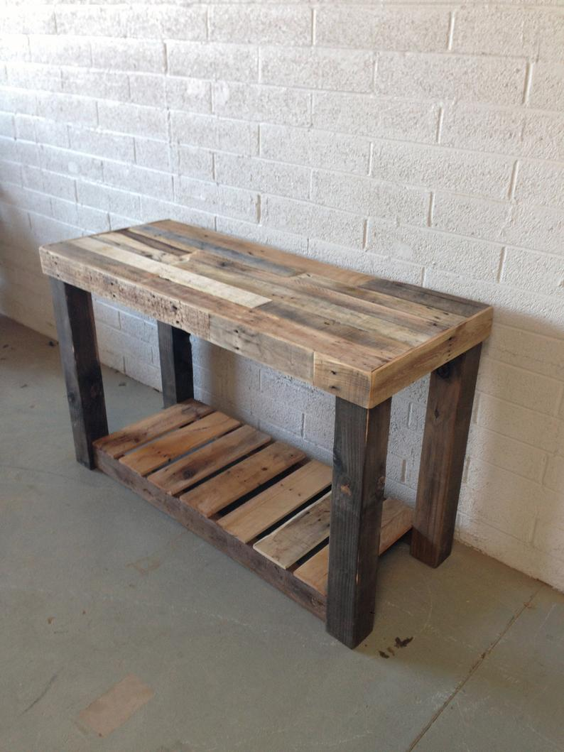 Reclaimed Wood Console Table Accent Sofa Entryway Entry