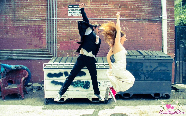 Креативные свадебные фото в прыжке | Свадебные фото, Свадьба