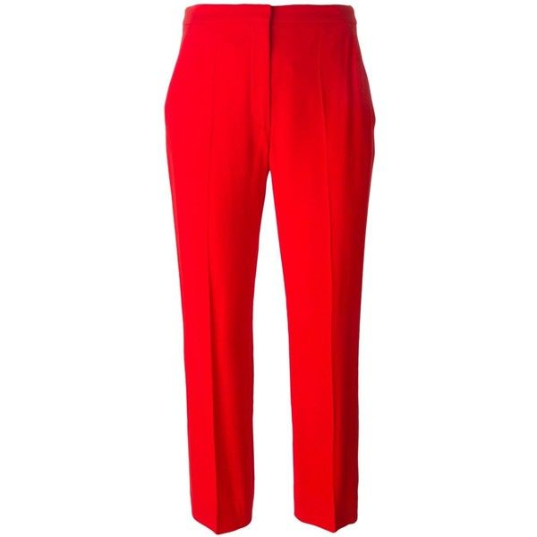 cropped trousers - Red Alexander McQueen Best Buy oTiUxxj