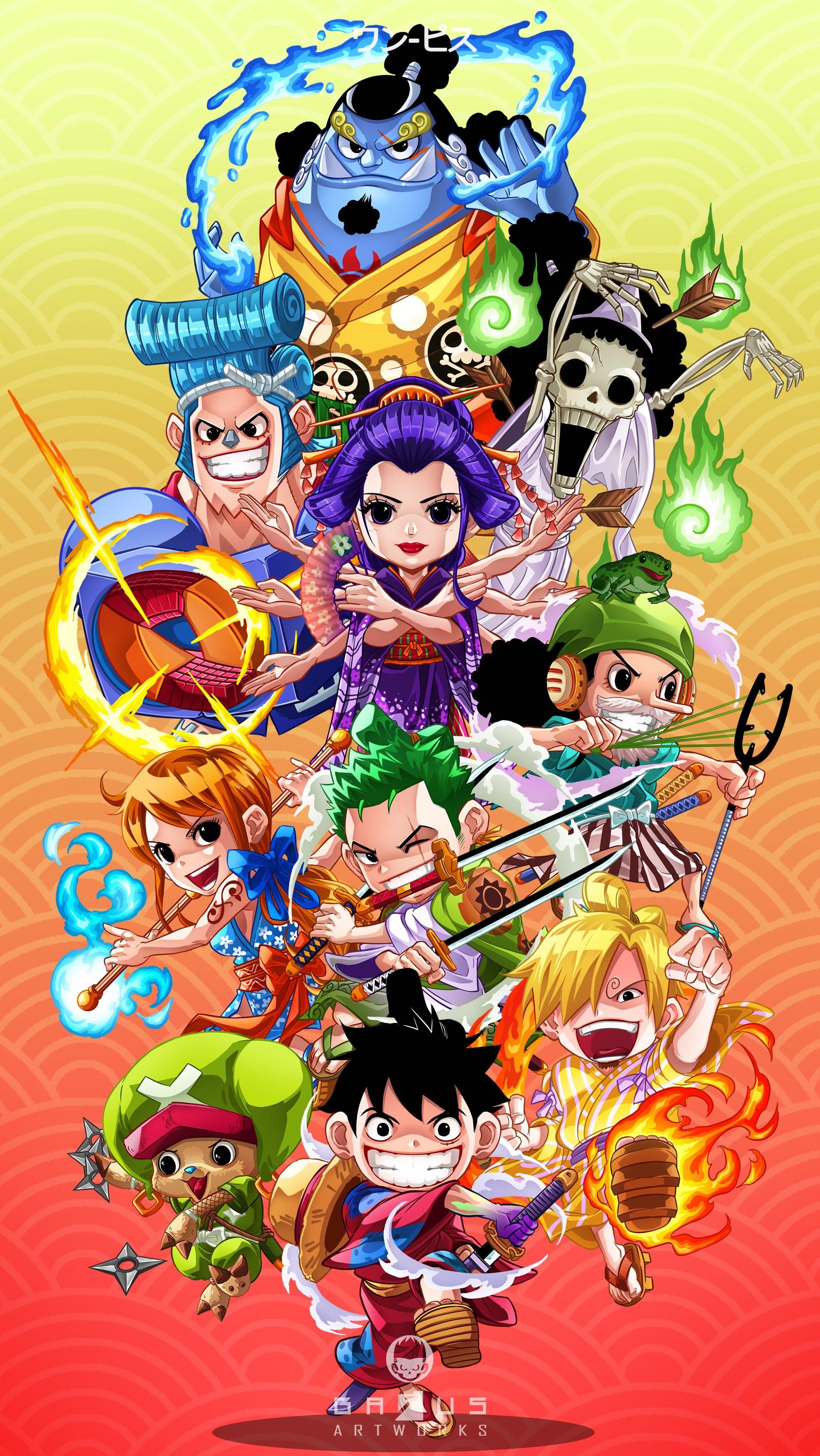 Free Wallpaper One Piece Arc Wano Oleh Bagus Tri Cahyono Karyakarsa Di 2020 Karya Seni 3d Seni Jepang Ilustrasi Karakter