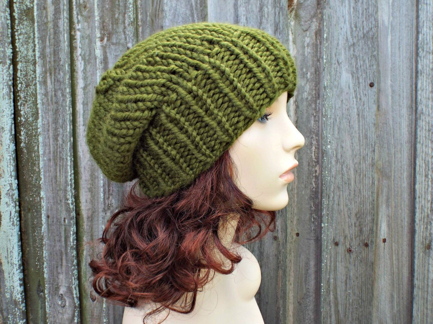 Instant Download Chunky Beanie Knitting Pattern - Knit Hat ...