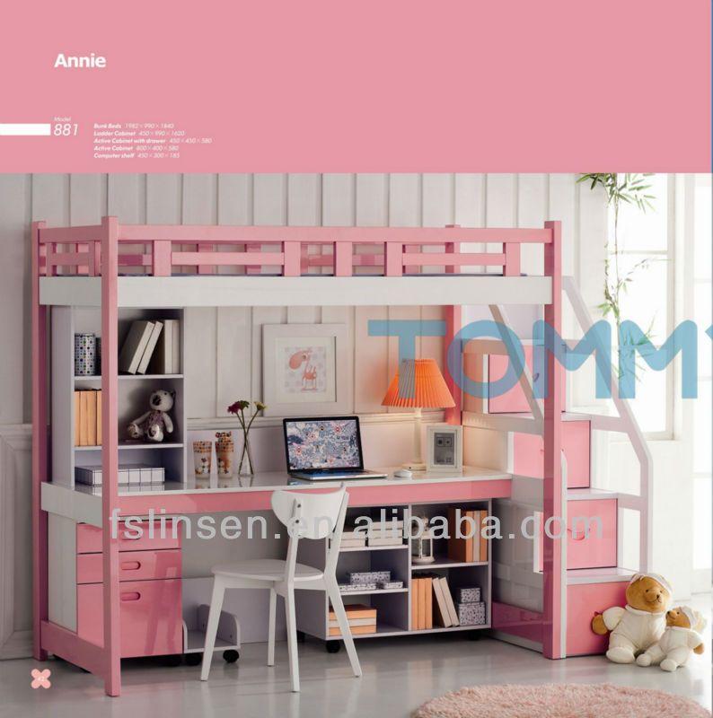 Modelos de camas litera con escritorio abajo buscar con for Cama nido escritorio incorporado