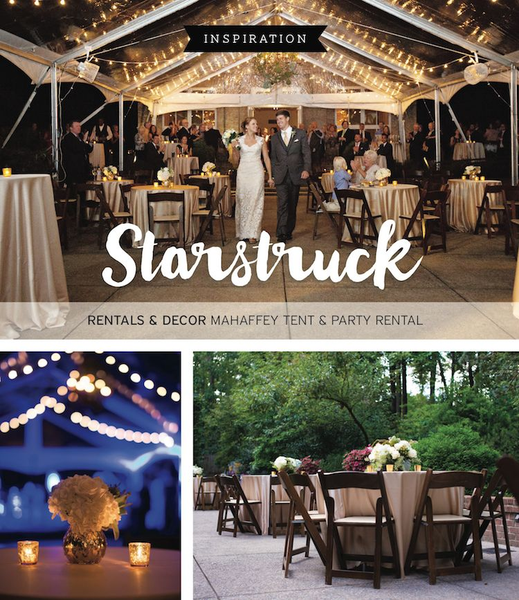 Love the romantic wedding lighting. View more from this romantic outdoor wedding inspiration with clear & Starstruck Wedding Inspiration | Outdoor wedding inspiration ...