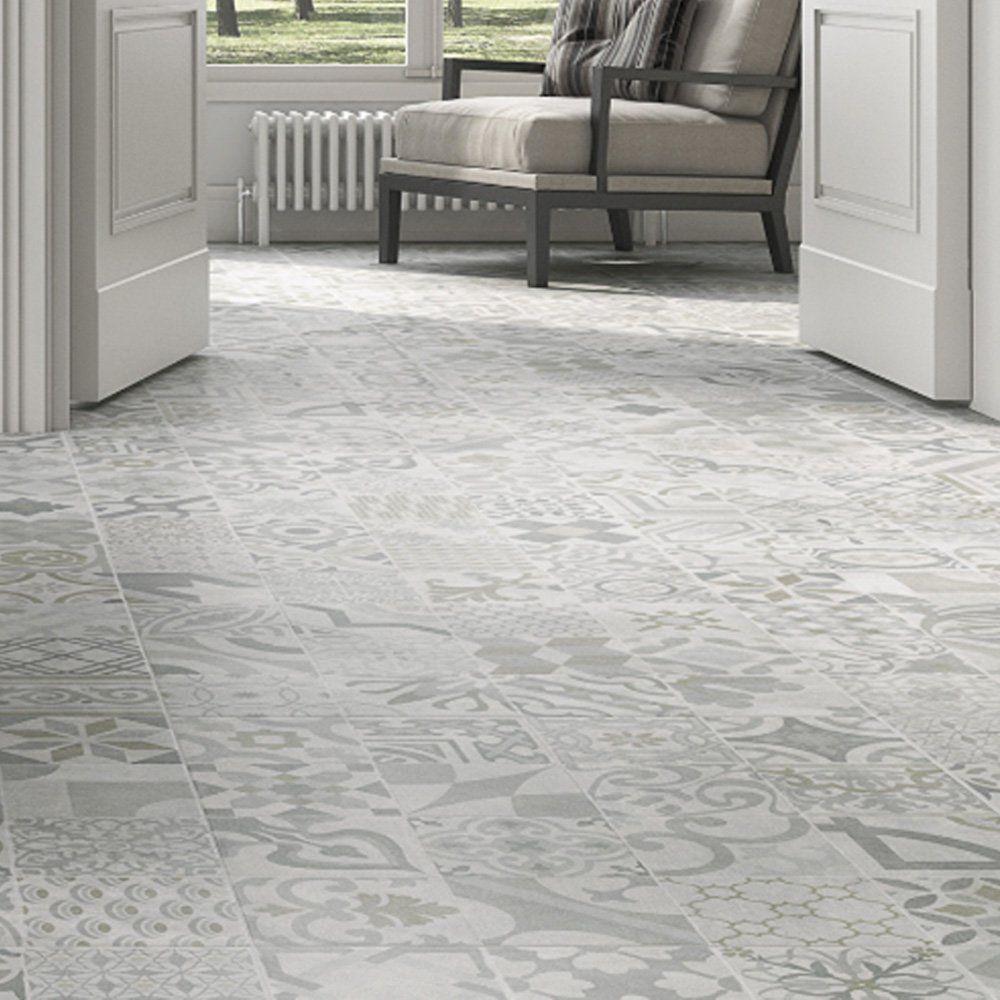 Pamesa Provenzal Gris Patterned 75x75cm Floor Tile Patterned