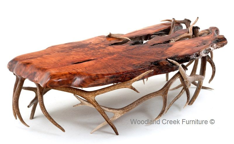 Antler Furniture Elk Coffee Table Custom Made Sizes Woodland Creek