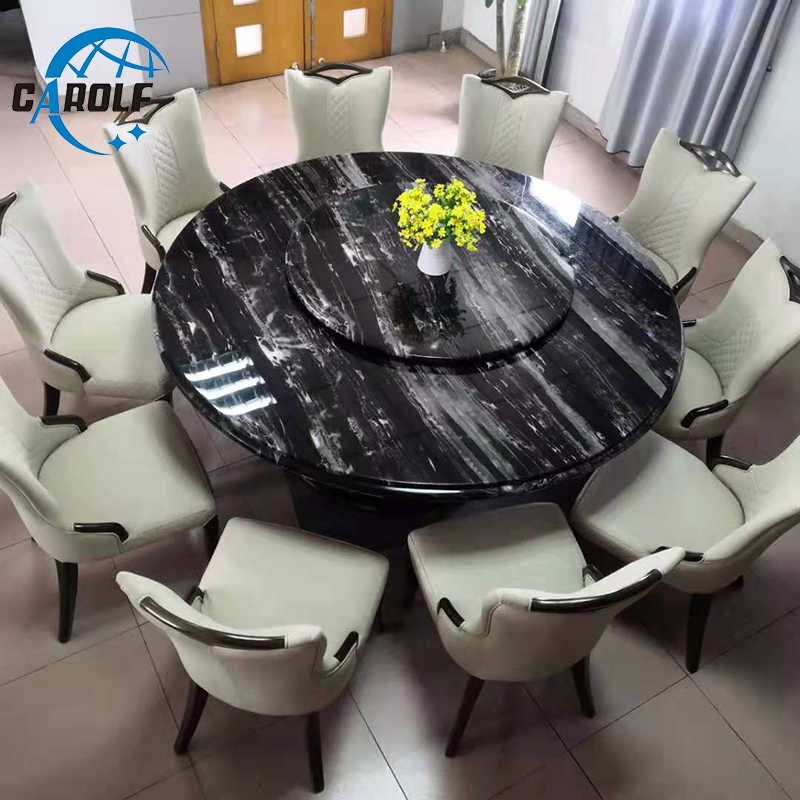 Top Furniture Large 10 Seats Black Marble Round Dining Table With Lazy Susan Dining Tables Aliexpress Round Marble Dining Table Round Dining Table Top Furniture