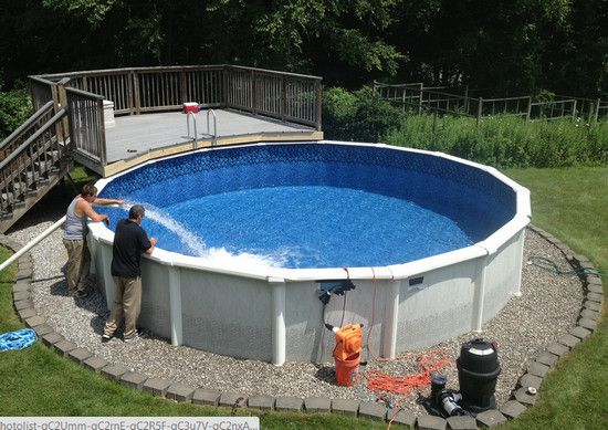 Above Ground Pool Edging Ideas above ground pool landscaping An Above Ground Pool Wish You Had A Backyard Pool But Cant